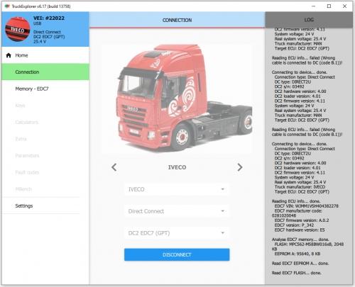 License IVECO EDC7 GPT